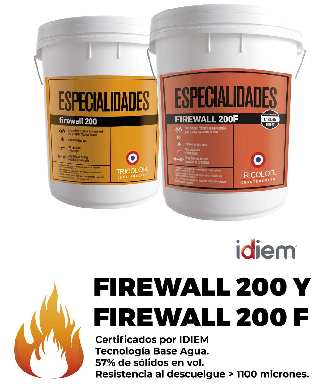 Pintura intumescente Firewall 200 Tricolor