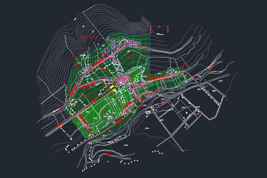 Plano localidad de Rivadavia