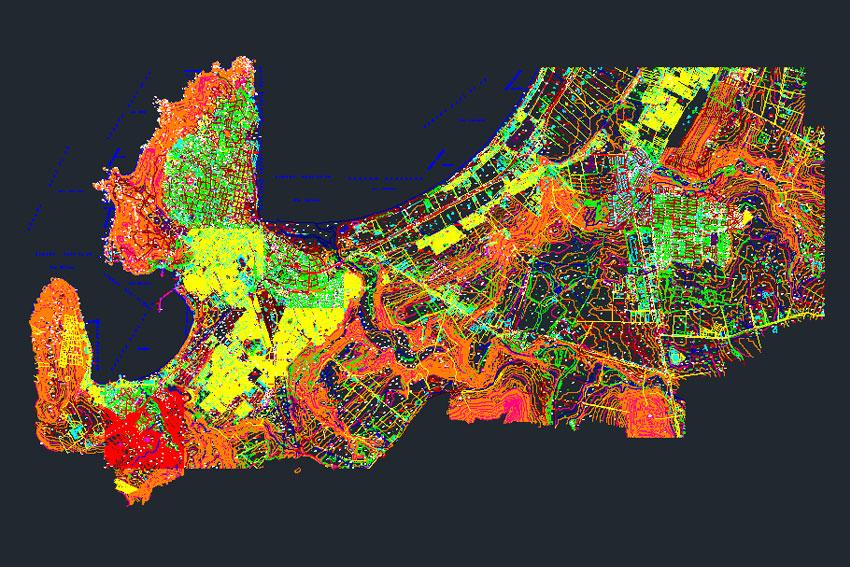 Plano ciudad de coquimbo
