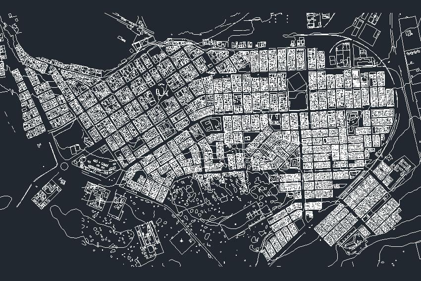 Plano ciudad de caldera