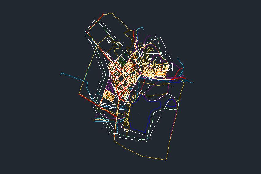 plano poblado de cerrillos de tamaya