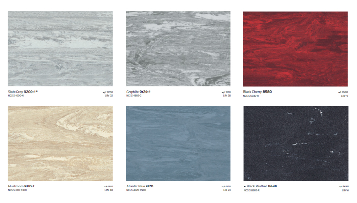 carta colores piso standard xl sysprotec