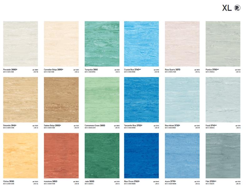 carta colores xl pu piso vinilico polyflor sysprotec