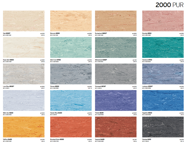carta colores 2000 pur piso vinilico sysprotec