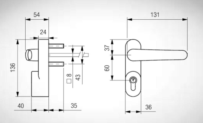 Accesorios para barras antipanico