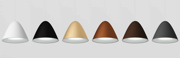 Apliques colgantes y Downlight Targetti Colors