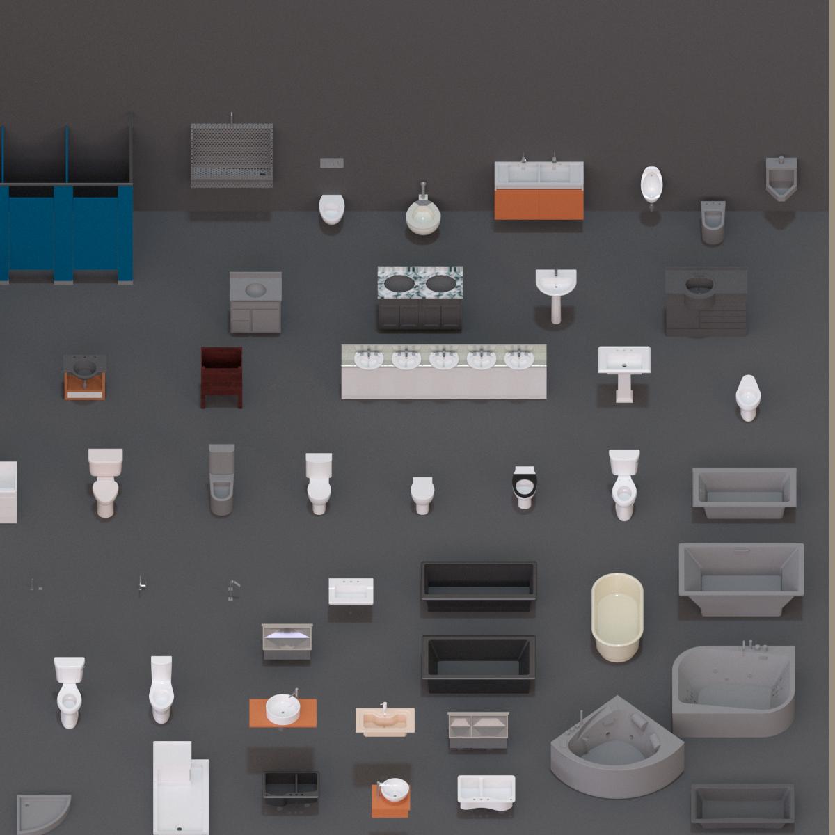 Colección de Mobiliario de Baño en BIM