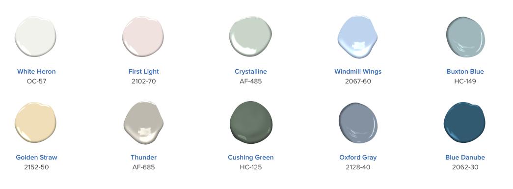 paleta Color Trends 2020 - Benjamin Moore