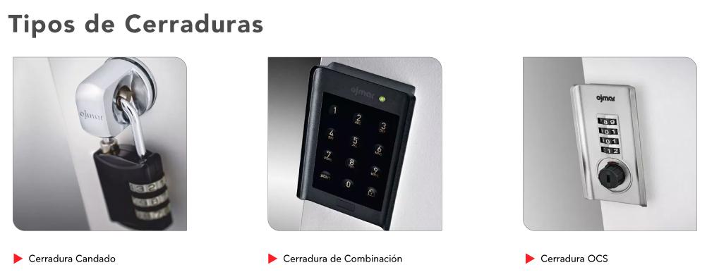 tipos de cerraduras para lockers en panel fenólico