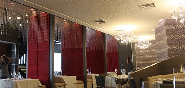 Cielo Acústico Cleaneo® de Knauf en Restaurante Alfredo Di Roma