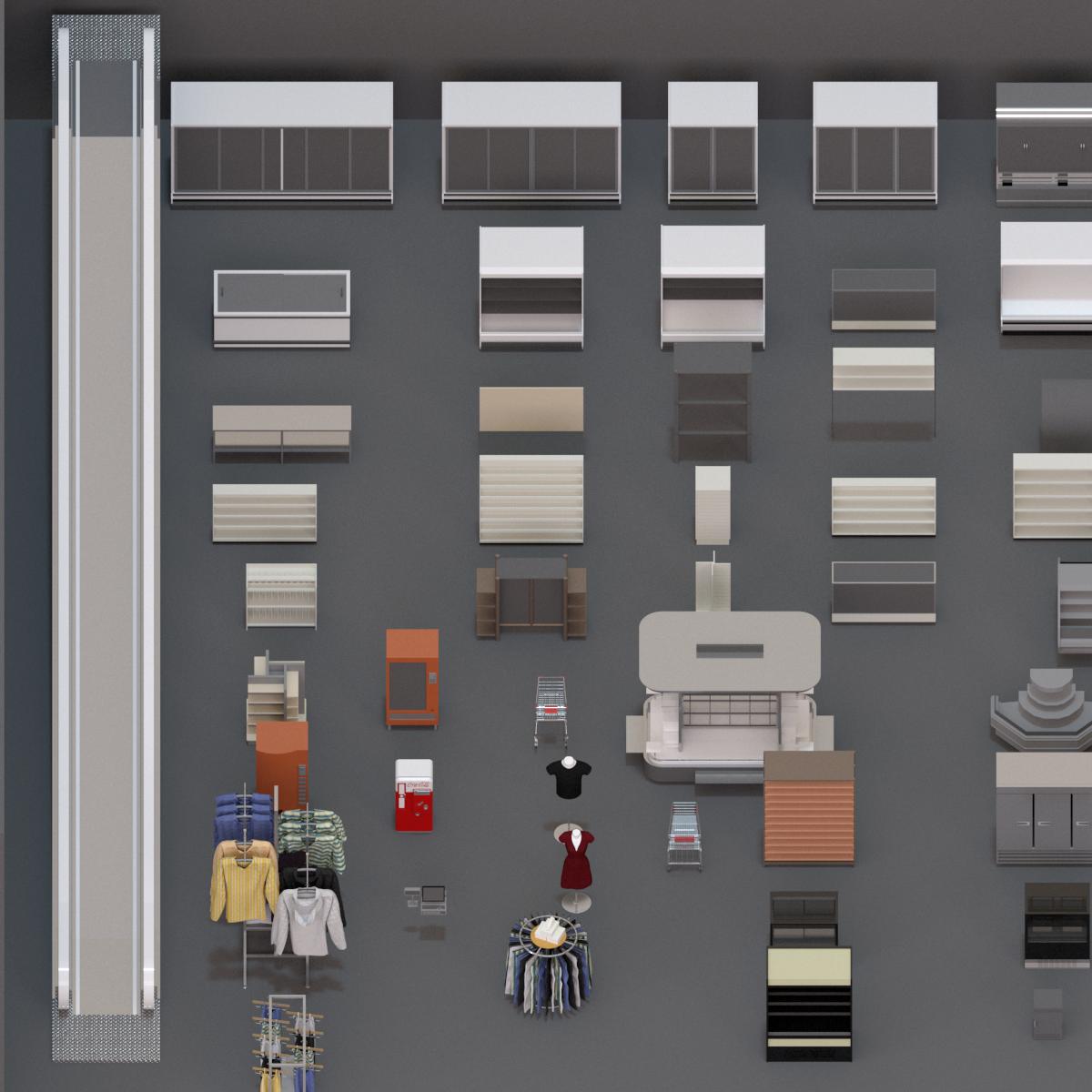 Colección Mobiliario Comercio en BIM