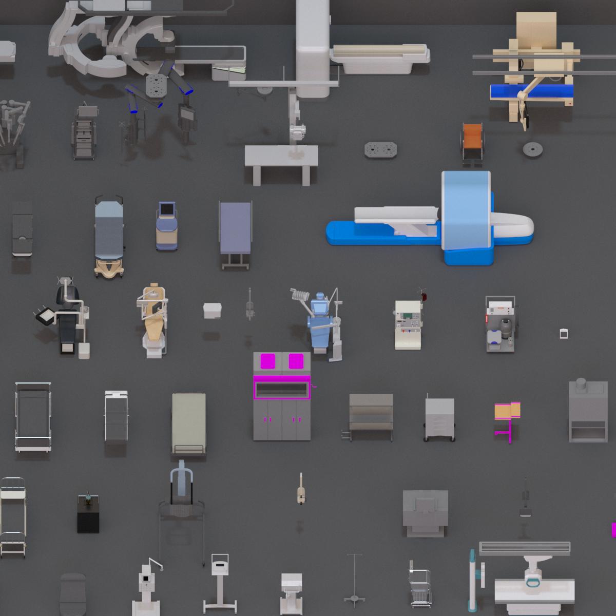 Colección de Mobiliario Hospitalario en BIM