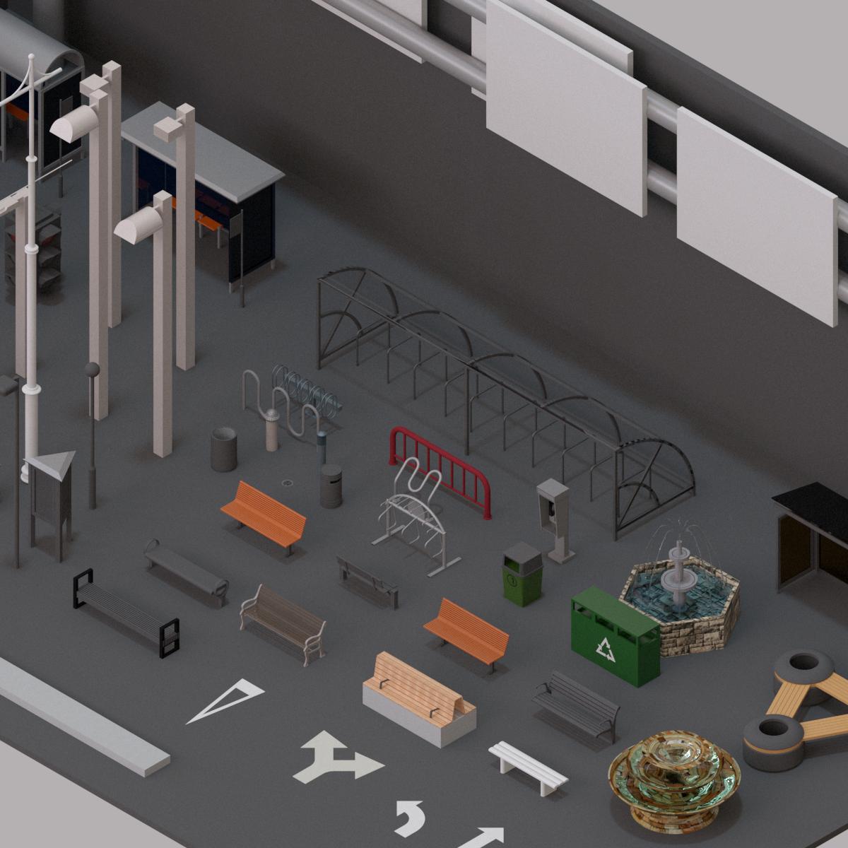 Colección de Mobiliario Urbano en BIM