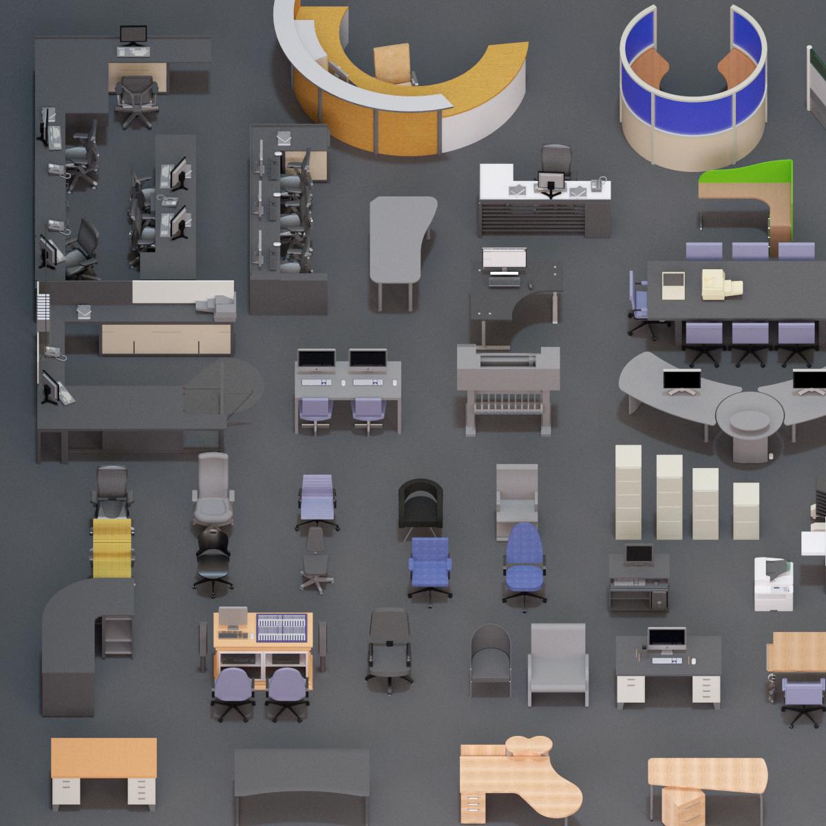 Colección de Mobiliario Oficina en BIM
