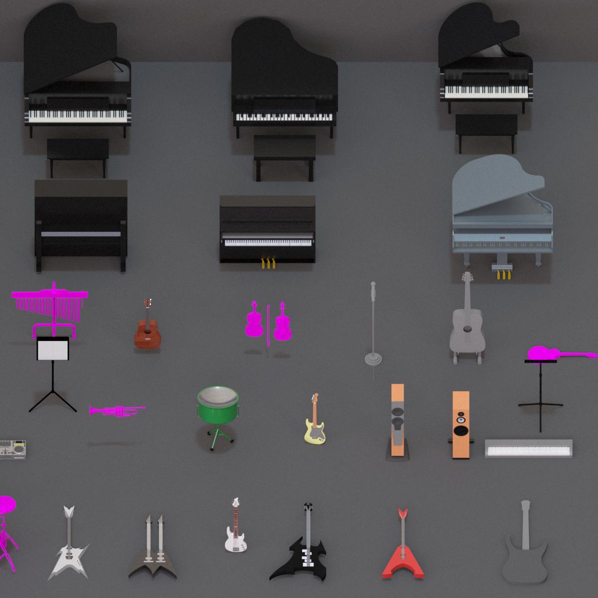 Colección de Instrumentos musicales en BIM
