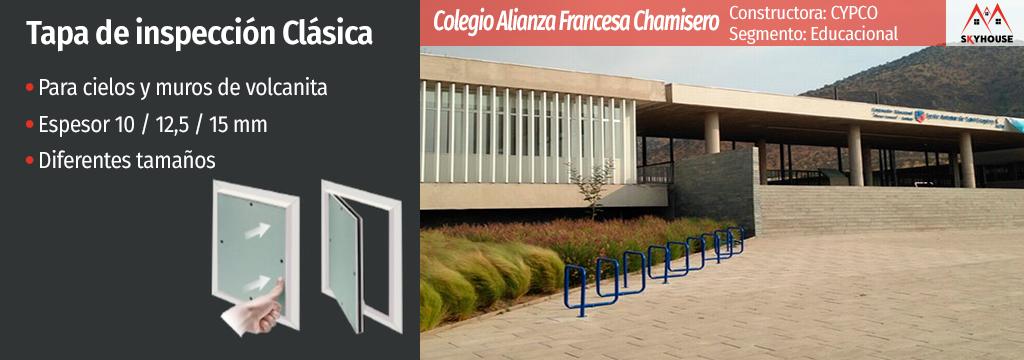 Tapas de Inspección en Colegio Alianza Francesa