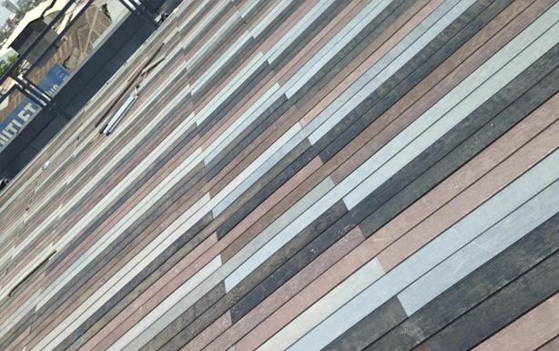 Decks de Madera Plástica en azotea de canal MEGA
