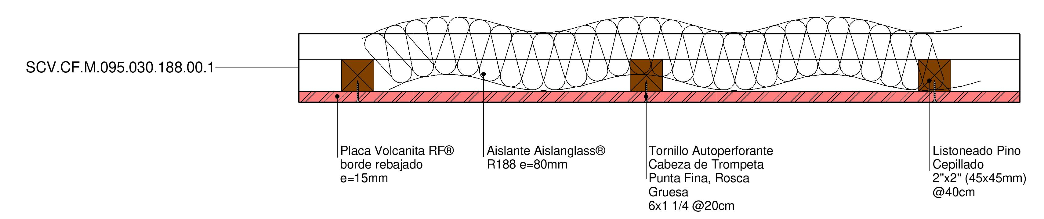 Solución Cielo falso F-30 de Volcan en BIM. Solución en rvt, ifc, dwg, para revit, BIM, de Volcan