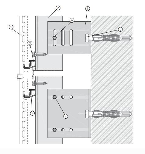 Detalle fijación fachada ventilada terracota - Truebond