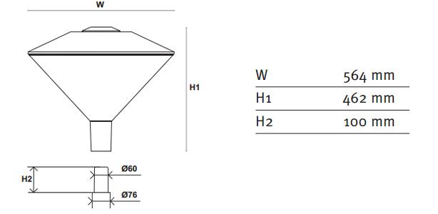 Diseño moderno con materiales de calidad - FRIZA Luminaria Schréder