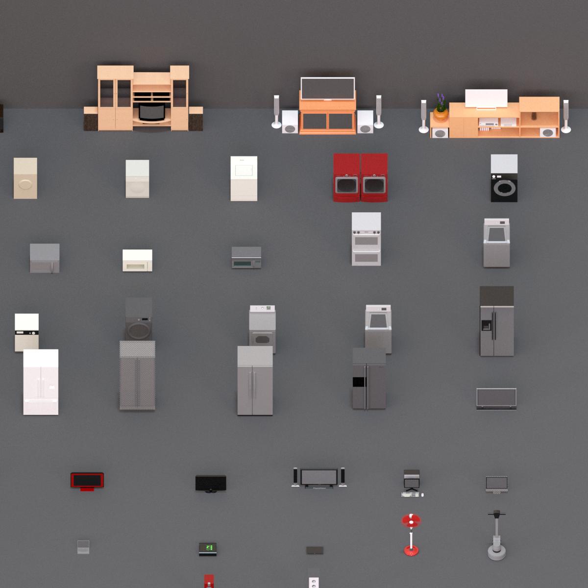 Colección de Electrodomésticos en BIM