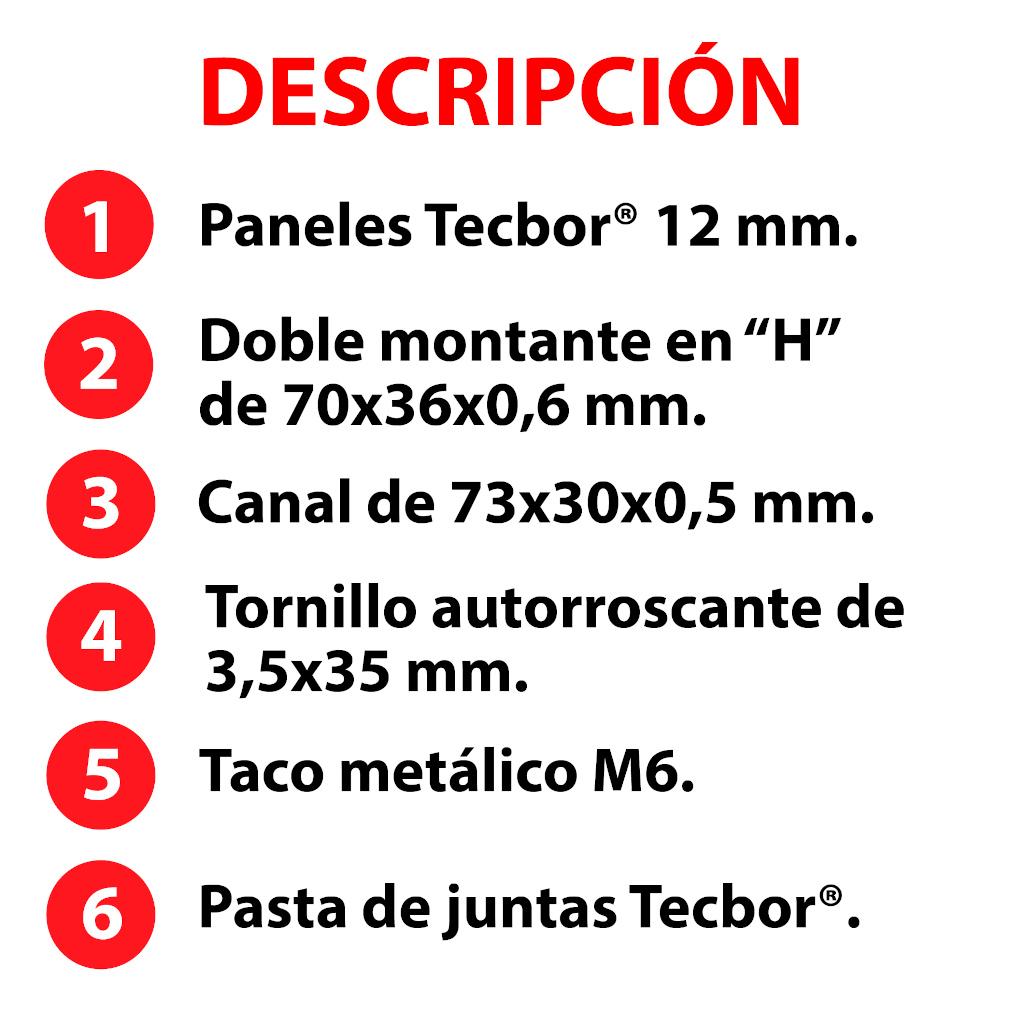 Tecbor® tabique RF OGUC F-60