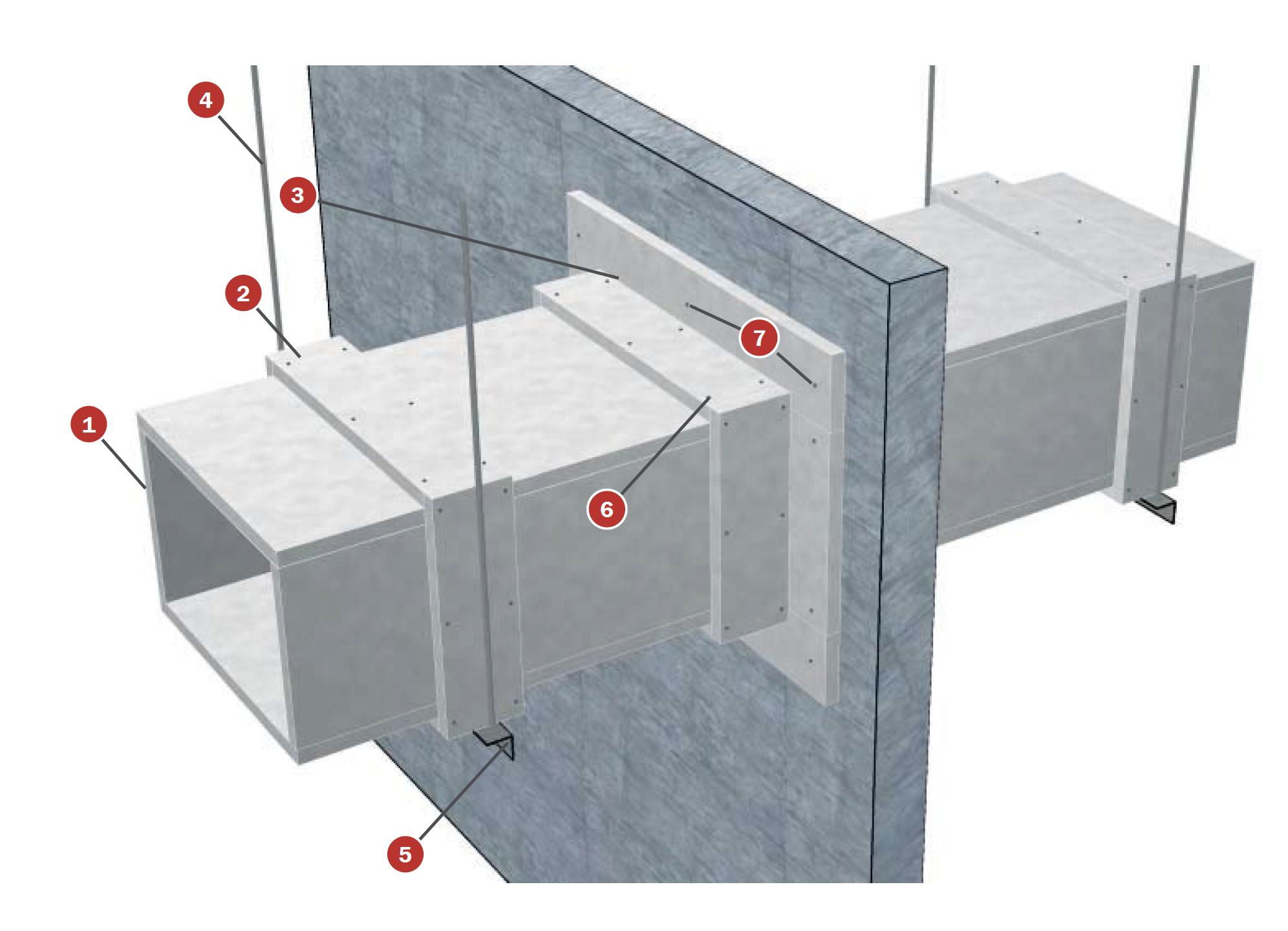 esquema tecbor panel construccion ducto synixtor