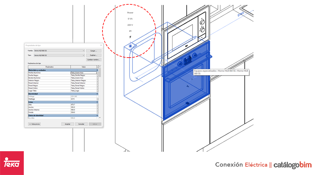 Descarga modelo de Horno eléctrico de Teka Modelo HBB 490 en BIM, puedes encontrar en catálogo modelos 3D y familias de hornos de cocina eléctricos Teka. Descarga gratis familias de Hornos de Teka para su uso BIM, descargas en formatos Revit, rfa y rvt, e IFC y librerías de materiales, pronto descargas para ArchiCAD.