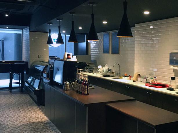 Iluminación LED en Café Chilensis, Providencia
