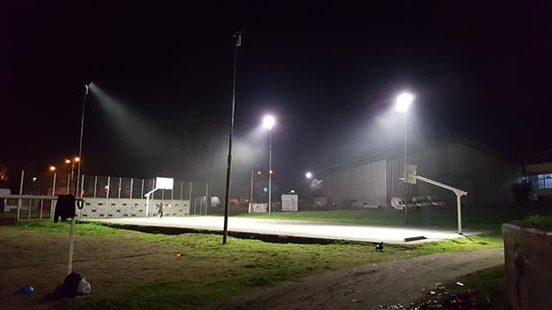Iluminación LED en Patinodromo y Multicancha Municipal de Concepción