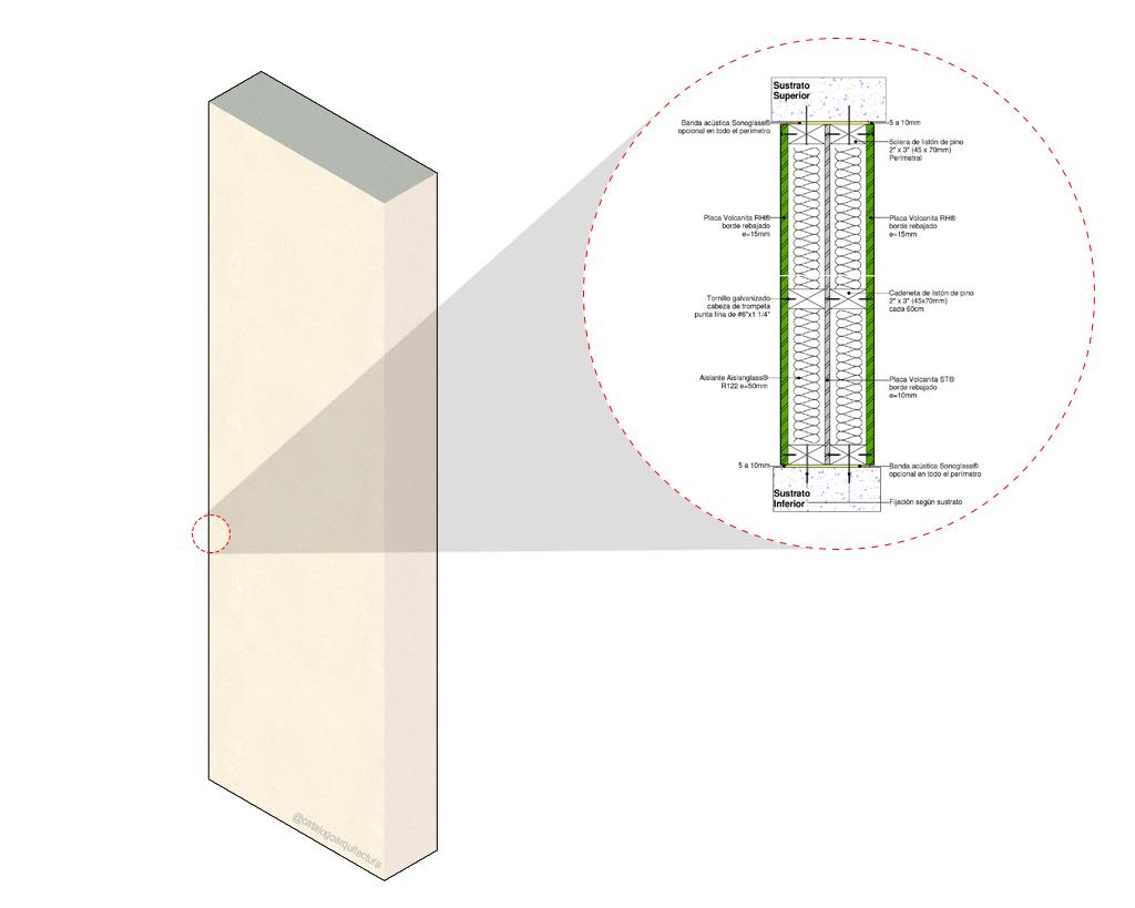 Tabique estructural F-60 de Volcan en BIM. Solución en rvt, ifc, dwg, para revit, BIM, de Volcan