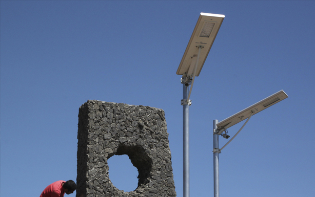 Instalación de Luminarias Solares en Comuna Máfil