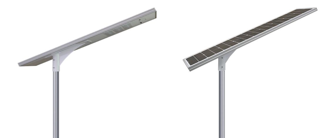Luminaria solar integrada con control remoto