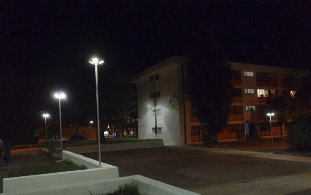 Luminarias Dec-Parque en proyectos de Condominios sociales en Illapel y Salamanca