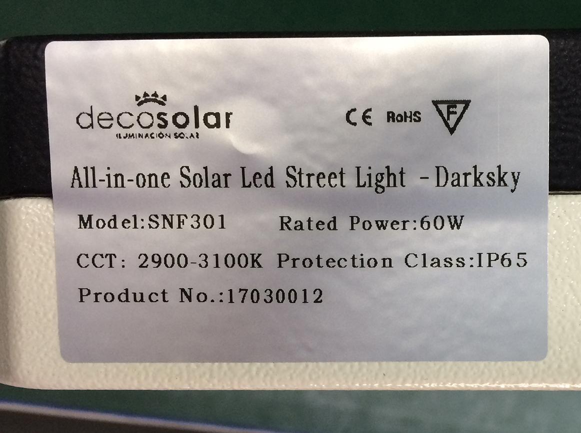 Luminarias Solares con Certificación para Cielos Oscuros