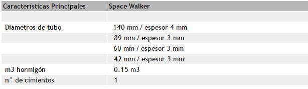 """Máquina de ejercicio """"Space Walker"""""""