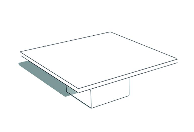 mesa centro pilar