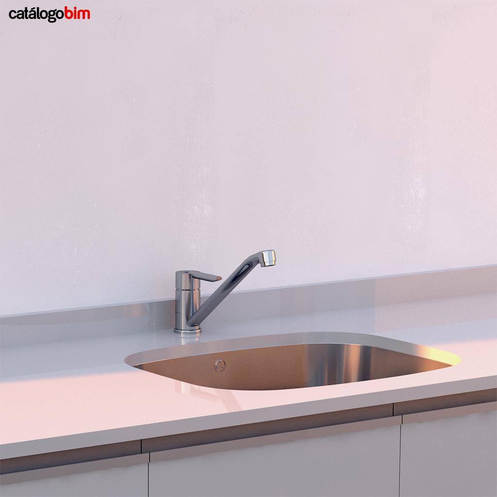 Descarga modelo de Grifo para lavaplatos de cocina Teka Modelo MF 2 en BIM, puedes encontrar modelos 3D y familias de grifo para lavaplatos de cocina Teka parametrizables, con texturas realistas, y conexiones de agua y alcantarillado. Descarga gratis la familia de Grifopara lavaplatos de cocina de Teka Modelo MF 2 para su uso BIM, descargas en formatos Revit, rfa y rvt, e IFC y librerías de materiales, pronto descargas para ArchiCAD.