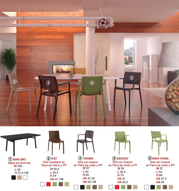 Mesas y Sillas Línea Hábitat Mobiliario de uso domestico