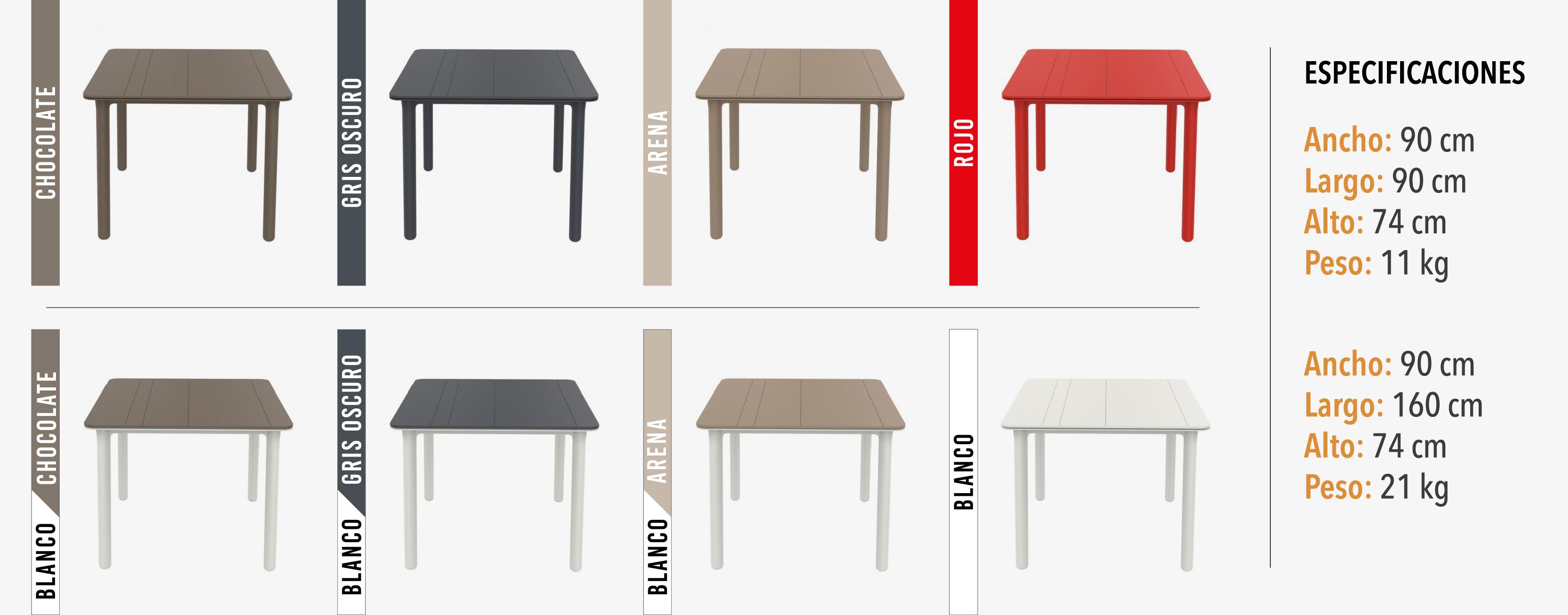 Colores mesa noa - Nicsolución