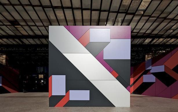 Placas Trespa Meteon en instalación de Acceso de la XVIII Bienal de Arquitectura