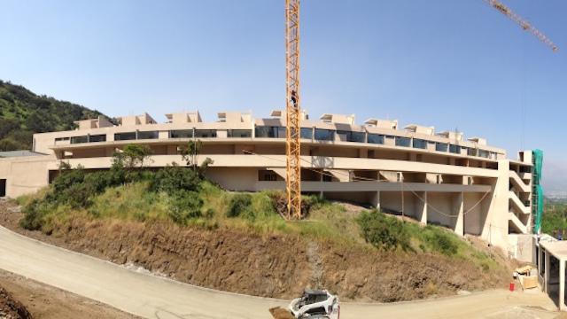Proyecto Vista Andes en corcho proyectado EIFS