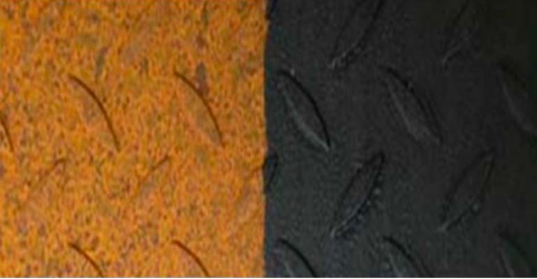 rehabilitación superficie oxidada