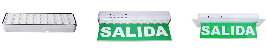 SI- EMERGENCIA 30 LED - S-EMERGENCIA 30 LED CON ACRÍLICO - S-EMERGENCIA 30 LED CON BISEL Y ACRÍLICO