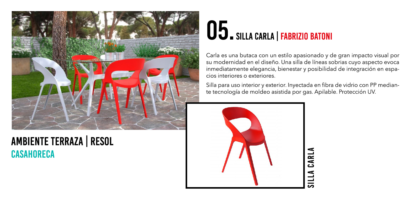 Silla Carla - Casahoreca.com