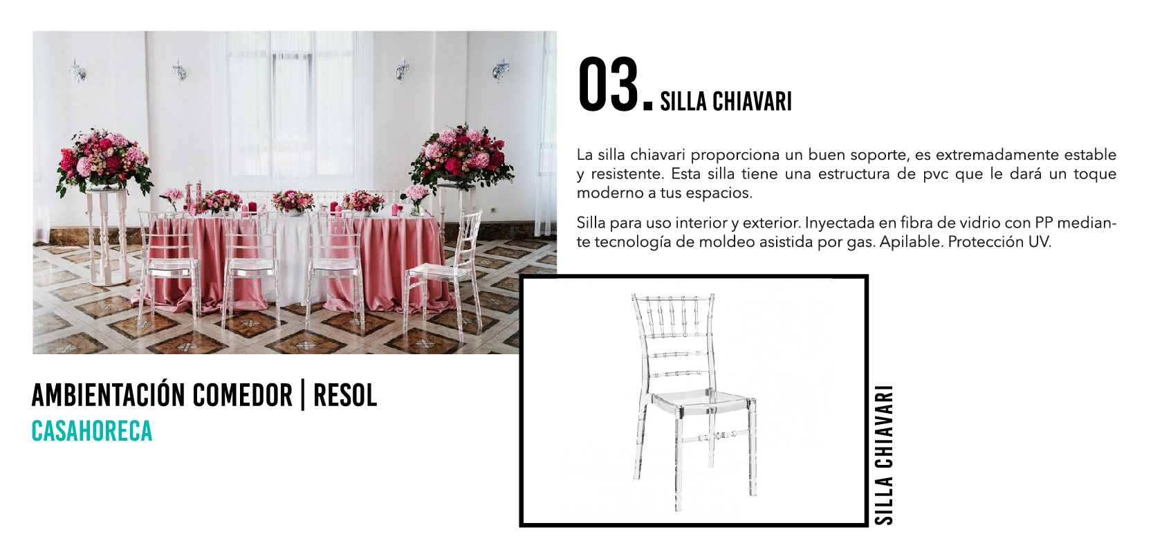 Silla Chiavari - Casahoreca.com