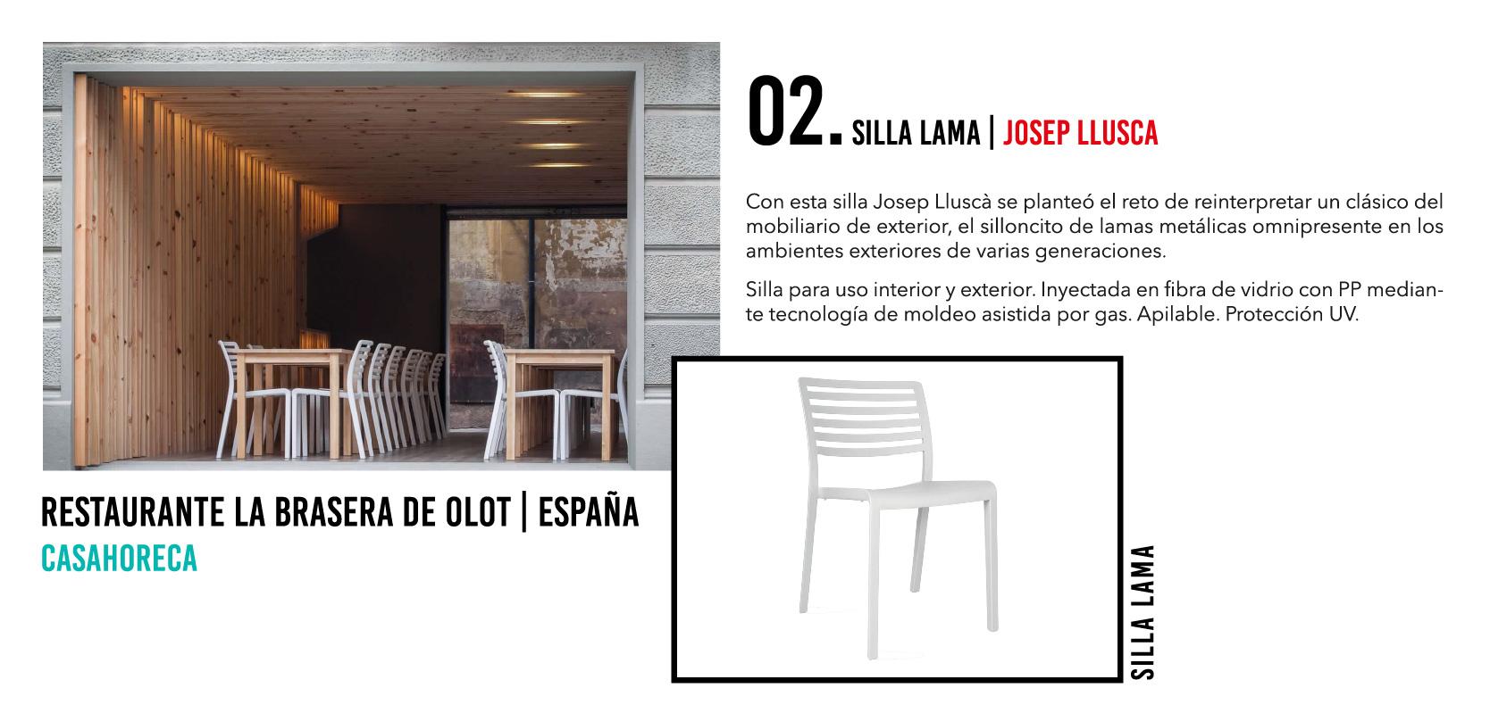 Silla Lama - Casahoreca.com