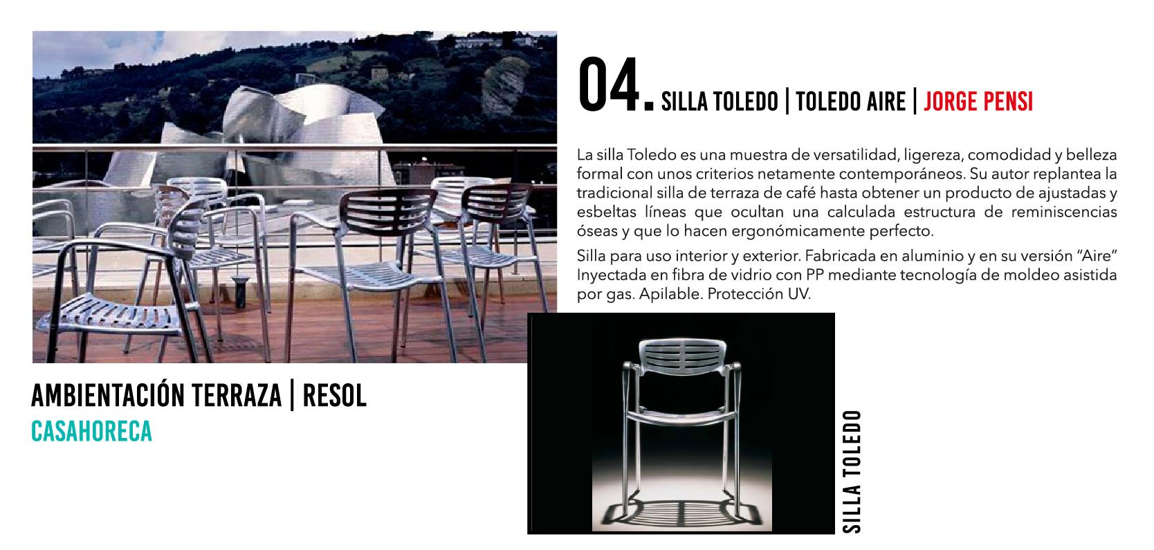 Silla Toledo - Casahoreca.com