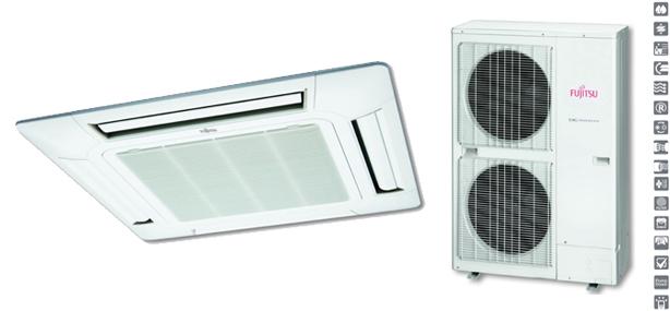 Split Cassette Inverter Fujitsu LR Trifásico
