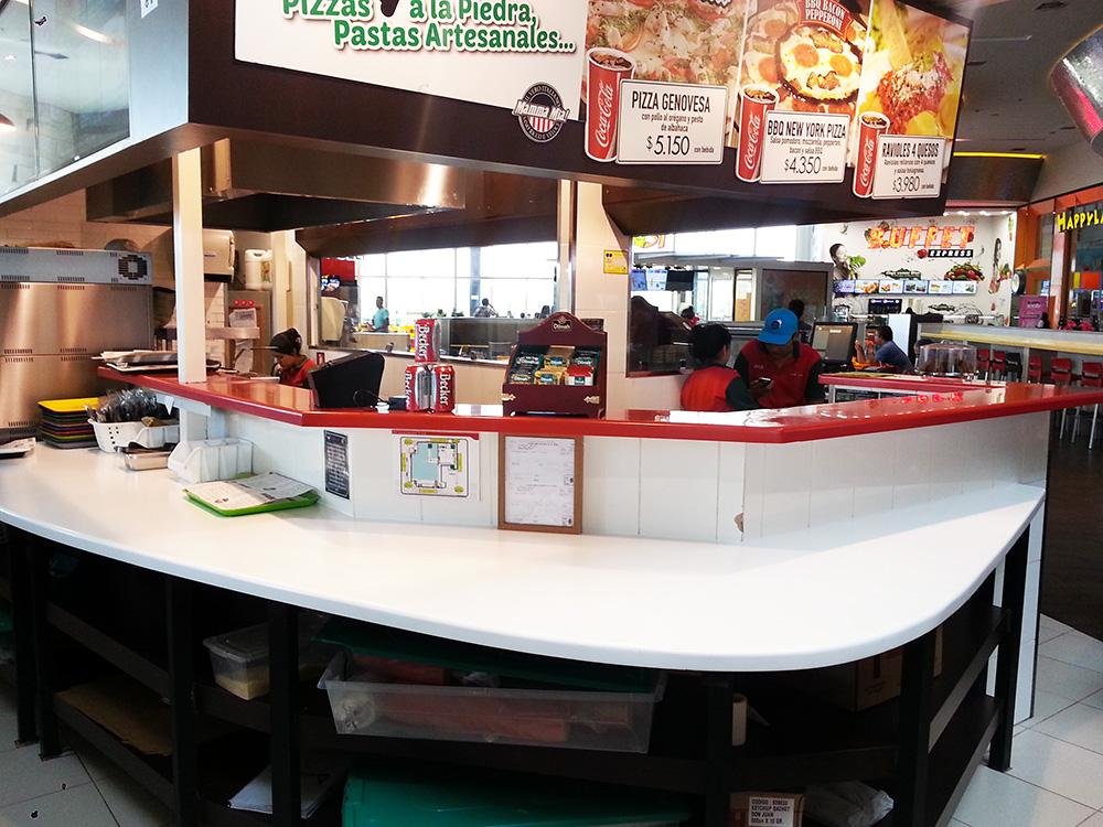 Superficie Staron® para Restaurante Mamma Mía Plaza Egaña